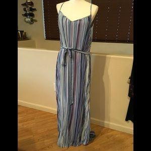 Maxi strap dress, striped